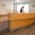 Comptoir d'accueil d'un cabinet médical